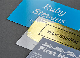 Business Card Brilliant Finishes